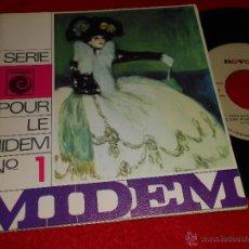 Discos de vinilo: MIDEM Nº1 EP RELAMPAGOS+BRINCOS+MICKY Y LOS TONYS+MASSIEL 1967 NOVOLA PROMO RARO. Lote 43496857