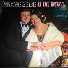 Discos de vinilo: STEVE & EYDIE - AT THE MOVIES LP - ORIGINAL INGLES - CBS RECORDS 1963 EN STEREO -. Lote 43501075