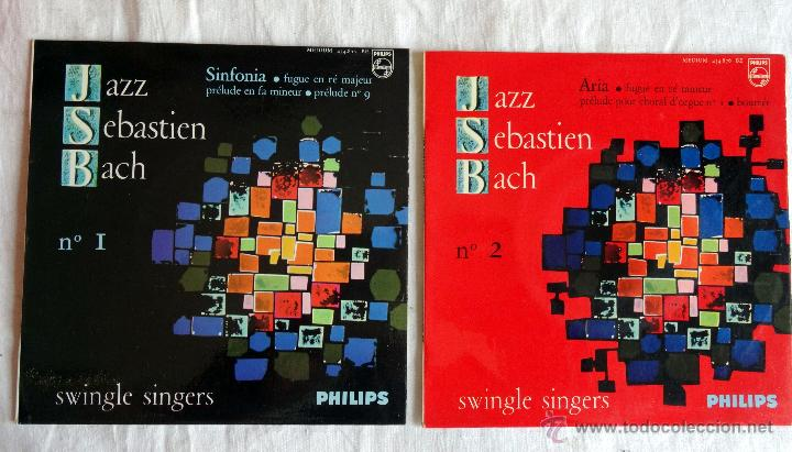 JAZZ SEBASTIEN BACH I Y 2 SWINGLE SINGERS 2 EP´S (Música - Discos de Vinilo - EPs - Jazz, Jazz-Rock, Blues y R&B)