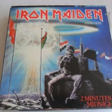 Discos de vinilo: IRON MAIDEN - 2 MINUTES TO MIDNIGHT 1984 MAXI. Lote 43519878