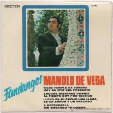 Discos de vinilo: MANOLO DE VEGA - FANDANGOS (EP) BELTER 1971. Lote 43521495
