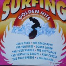 Discos de vinilo: SURFING GOLDEN HITS(THE BEACH BOYS,JAN & DEAN,THE VENTURES Y OTROS)EDICION ESPAÑOLA DEL 91 2 LP. Lote 194604760