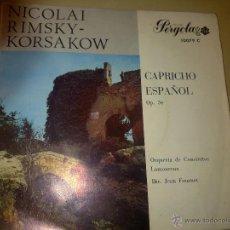 Discos de vinilo: NICOLAI RIMSKY-KORSAKOW - PERGOLA 10079C - 1967 - EP MONO - RARO - VG+/VG. Lote 43524159