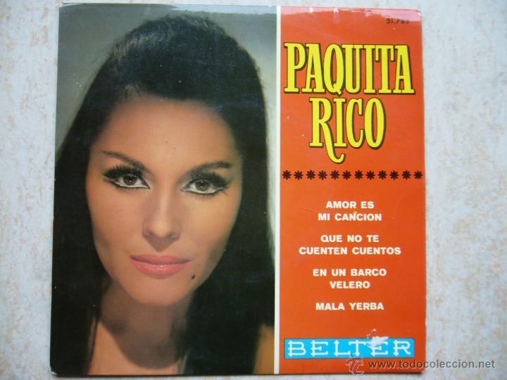 PAQUITA RICO - AMOR ES MI CANCION +3 (Música - Discos de Vinilo - EPs - Flamenco, Canción española y Cuplé)