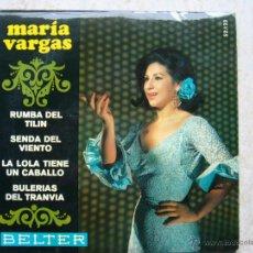 Discos de vinilo: MARIA VARGAS - RUMBA DEL TILIN +3. Lote 43526524