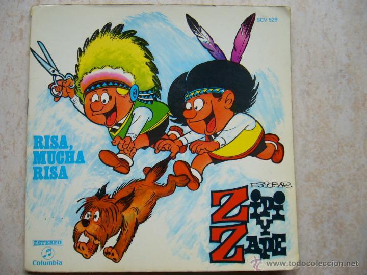 ZIPI Y ZAPE - RISA, MUCHA RISA - DISCO-COMIC (Música - Discos - Singles Vinilo - Música Infantil)
