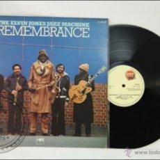 Discos de vinilo: DISCO LP VINILO - ELVIN JONES JAZZ MACHINE. REMEMBRANCE - STOP JAZZ - 1978 - ESPAÑA. Lote 43531887