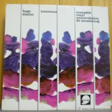 Discos de vinilo: HUGO DISTLER / ENSEMBLE VOCAL UNIVERSITAIRE DE STRASBOURG - TOTENTANZ - LP L'APOSTROPHE - FRANCIA. Lote 43533401