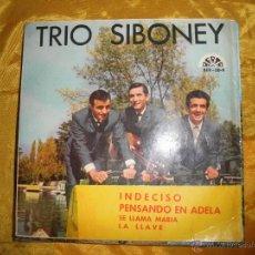 Discos de vinilo: TRIO SIBONEY. INDECISO+ 3. BERTA 1965. Lote 43535875