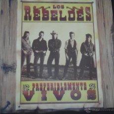 Discos de vinilo: LOS REBELDES PREFERIBLEMENTE VIVOS DISCO DOBLE EN DIRECTO. Lote 43557317