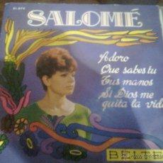 Discos de vinilo: SALOMÉ - ADORO + 3 (BELTER, 1968). Lote 43565429