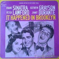 Discos de vinilo: FRANK SINATRA, PETER LAWFORD, JIMMY DURANTE:IT HAPPENED IN BROOKLYN - BANDA SONORA DE LA PELÍCULA,LP. Lote 30847080