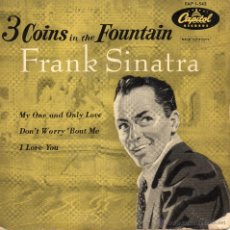 Discos de vinilo: FRANK SINATRA, EP, THREE COINS IN FOUNTAIN + 3, AÑO 1959. Lote 43582444