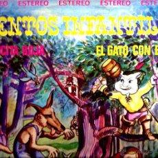 Discos de vinilo: LP CUENTOS INFANTILES : CAPERUCITA ROJA & EL GATO CON BOTAS ( JOSE GARCIA DAVILA Y SU CUADRO ACTORES. Lote 43598266