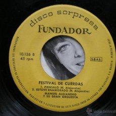 Discos de vinilo: EP FUNDADOR / FETIVAL DE CUERDAS /VER FOTO ADICIONAL. Lote 43604995