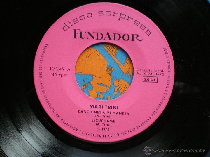 Discos de vinilo: EP FUNDADOR /MARI TRINI /VER FOTO ADICIONAL - Foto 2 - 43610673