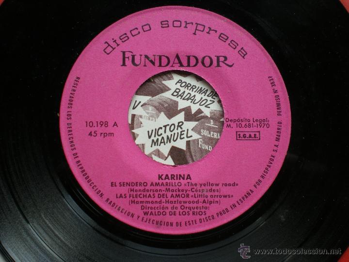 EP FUNDADOR /KARINA /VER FOTO ADICIONAL PEPETO (Música - Discos de Vinilo - EPs - Solistas Españoles de los 50 y 60)