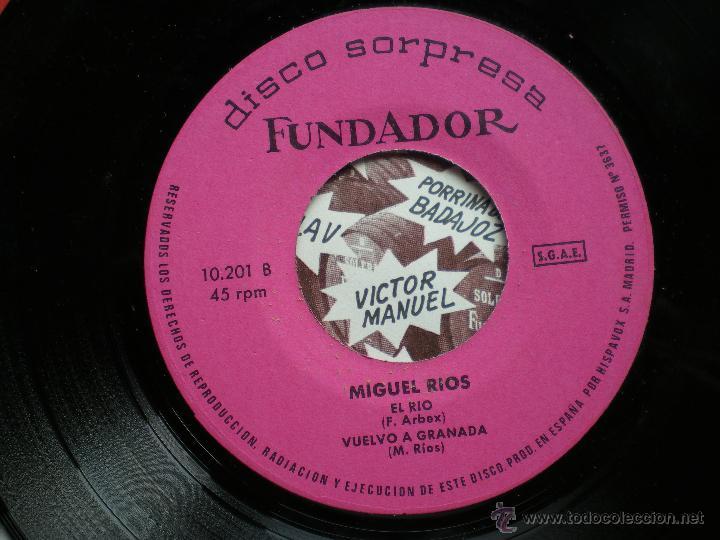 EP FUNDADOR /MIGUEL RIOS /VER FOTO ADICIONAL (Música - Discos de Vinilo - EPs - Solistas Españoles de los 50 y 60)