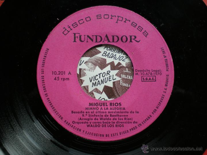 Discos de vinilo: EP FUNDADOR /MIGUEL RIOS /VER FOTO ADICIONAL - Foto 2 - 43611282