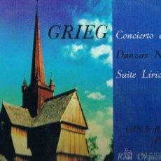 Discos de vinilo: GRIEG CONCIERTO EN LA MENOR PARA PIANO. Lote 43612205