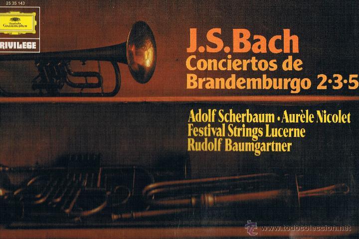 J.S. BACH CONCIERTOS DE BRANDEMBURGO 2 3 5 (Música - Discos de Vinilo - EPs - Clásica, Ópera, Zarzuela y Marchas)