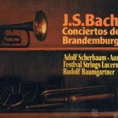 Discos de vinilo: J.S. BACH CONCIERTOS DE BRANDEMBURGO 2 3 5. Lote 43612288