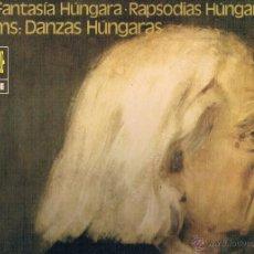 Discos de vinilo: FRANZ LISZT RAPSODIA HUNGARA Y DANZAS HUNGARAS. Lote 43612317