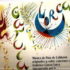 Discos de vinilo: LP FEDERICO GARCIA LORCA & RAFAEL ALBERTI & FINA DE CALDERON & ORQUESTA LIRICA MADRID-LAR . Lote 43612790