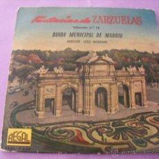 Discos de vinilo: FANTASÍAS DE ZARZUELAS. BANDA MUNICIPAL DE MADID. SELECCIÓN Nº 14. SINGLE.. Lote 43612857