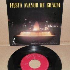 Discos de vinilo: FIESTA MAYOR DE GRACIA - ORQUESTA MARAVELLA Y COROS. DIR. LUIS FERRER (1962). Lote 43613239
