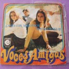 Discos de vinilo: VOCES AMIGAS. CANTA CON NOSOTROS, SUENA EL RELOJ. SINGLE, 1968.. Lote 43613993