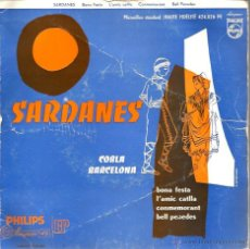 Discos de vinilo: EP SARDANES : COBLA BARCELONA : BONA FESTA + 3 ( PHILIPS FRANCE ) . Lote 43632354