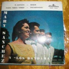 Discos de vinilo: MARY SANCHEZ Y LOS BANDAMA. EL GAVILAN + 3 . EP. ALHAMBRA 1959. IMPECABLE. Lote 43634119