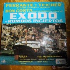 Discos de vinilo: EXODO Y RUMBOS INCIERTOS. DON COSTA CON FERRANTE Y TEICHER. HISPAVOX 1961. Lote 43634189