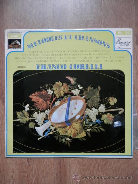 MELODIES ET CHANSONS - FRANCO CORELLI (Música - Discos de Vinilo - EPs - Orquestas)