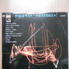 Discos de vinilo: PÁGINAS CÉLEBRES - FRANK POURCEL Y SU ORQUESTA. Lote 43637158