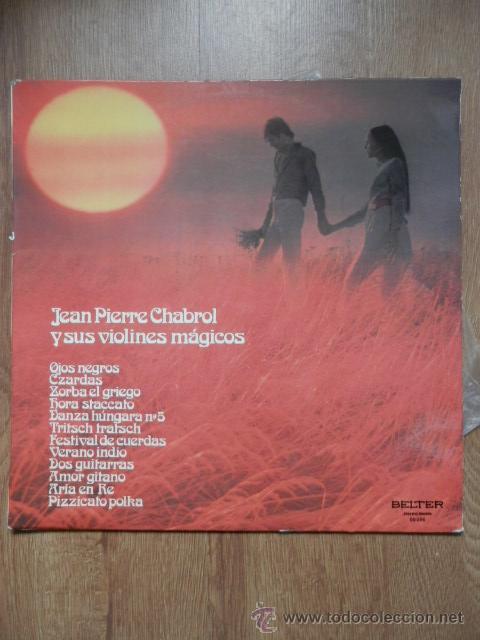 OJOS NEGROS - JEAN PIERRE CHABROL Y SUS VIOLINES MÁGICOS (Música - Discos de Vinilo - EPs - Orquestas)