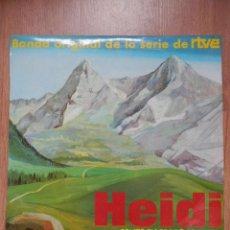 Discos de vinilo: HEIDI CANTA EN ESPAÑOL. CAPÍTULOS 3, 4 Y 5. BANDA ORIGINAL DE LA SERIE DE RTVE - VERSIÓN ESP. CARLOS. Lote 43637190