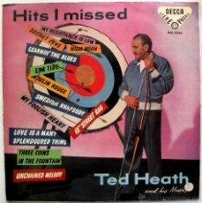 Discos de vinilo: TED HEATH - HITS I MISSED (EXITOS QUE OLVIDÉ) - LP DECCA 1958 EDICION ESPAÑOLA BPY. Lote 43644126