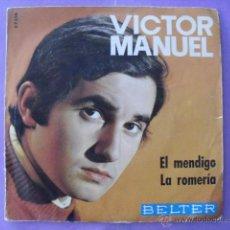 Discos de vinilo: VICTOR MANUEL. SINGLE.. Lote 43654345