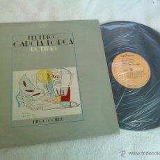 Discos de vinilo: FEDERICO GARCIA LORCA POEMAS RECITADOS POR DIEGO GOMEZ. AÑO 1975. Lote 43654791