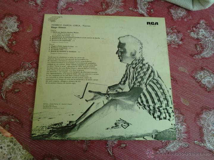 Discos de vinilo: Federico Garcia Lorca Poemas recitados por Diego Gomez. Año 1975 - Foto 2 - 43654791
