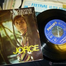 Discos de vinilo: JORGE, WINCHESTER CATHEDRAL, SINGLE DE PHILIPS 1967. Lote 43673382