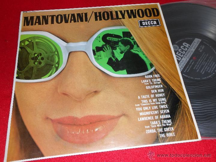 MANTOVANI HOLLYWOOD LP 1967 DECCA PROMO EDICION ESPAÑOLA SPAIN (Música - Discos - LP Vinilo - Orquestas)