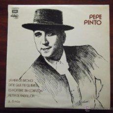 Discos de vinilo: DISCO DE VINILO DE PEPE PINTO.. Lote 43680222