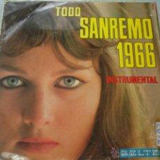 Disques de vinyle: TODO SANREMO 1966 (1966 BELTER) LP. Lote 43684020