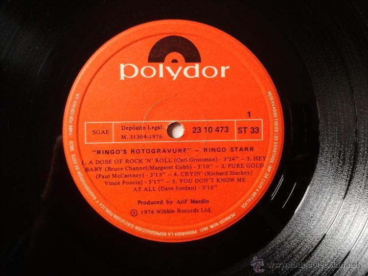 Discos de vinilo: RINGO STARR ROTOGRAVURE LP POLYDOR 1976 - Foto 5 - 43694761