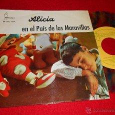 Discos de vinilo: TEATRO INVISIBLE RADIO NACIONAL ESPAÑA BARCELONA ALICIA EN EL PAIS MARAVILLAS EP 1961 CUENTO COLOR. Lote 43702500