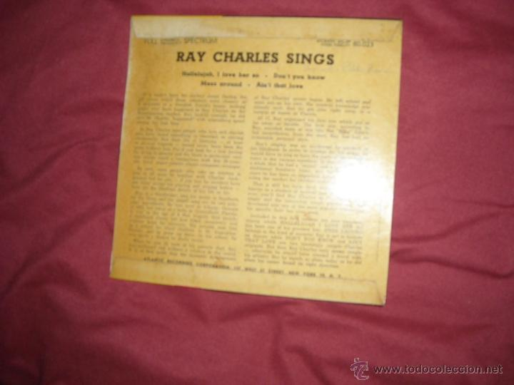 Discos de vinilo: RAY CHARLES SINGS EP ATLANTIC SWEDEN GRAN PRIX DU DIQUE VOL 1 - Foto 2 - 43714989