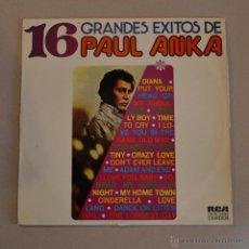 Discos de vinilo: PAUL ANKA. 16 GRANDES EXITOS. RCA 1971. Lote 46020329